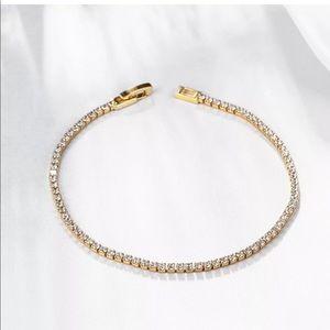 Swarovski Elements Crystal Tennis Bracelet Gold